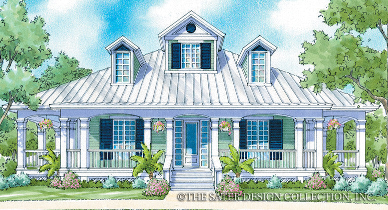 Camden Place-Front Elevation-Plan #6869
