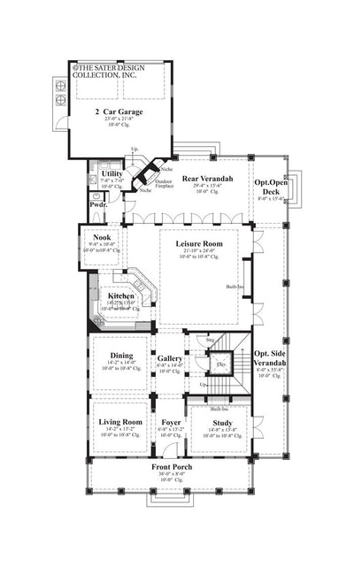 Capella Place- Main Level Floor Plan -#6870