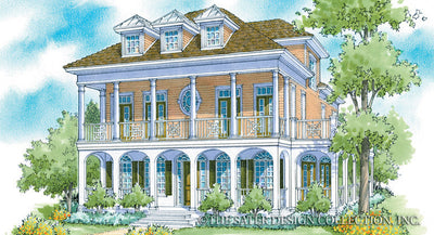 Capella Place-Front Elevation-Plan #6870