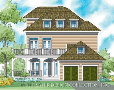 Capella Place-Rear Elevation-Plan #6870