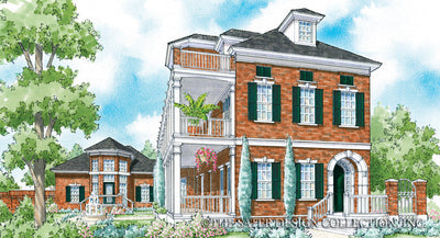 Reddington Home-Front Elevation Render Image-Plan #6871