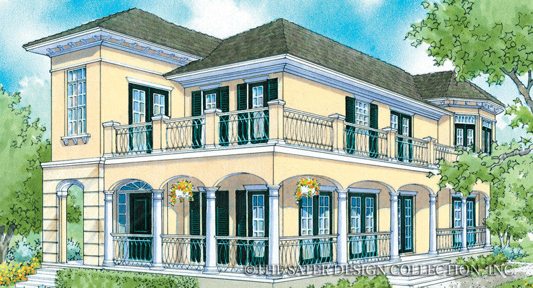 Villa Verdi-Front Elevation-Plan #6872