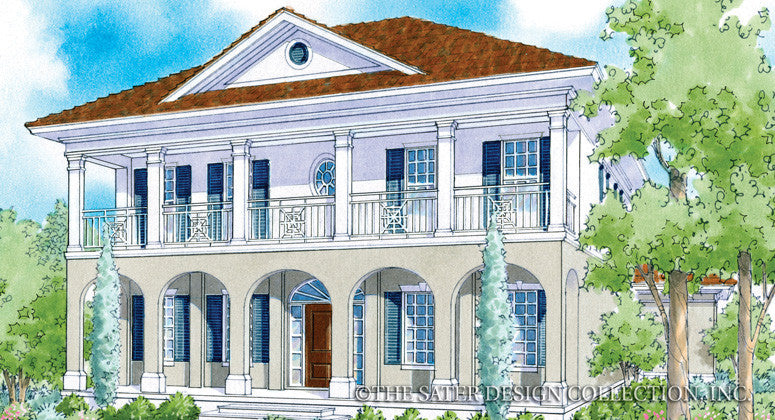Home plan addison court sater design collection for East coast house plans
