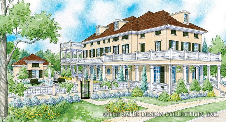 Tortuga Bay-Front Elevation-Plan #6874