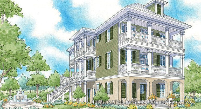 Myrtle Grove-Front Elevation-Plan #6875