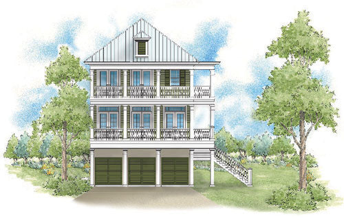 House plan myrtle grove sater design collection for Tnd house plans