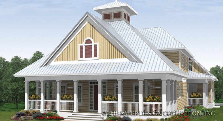 Cardinal Point-Front Elevation-Plan #6881