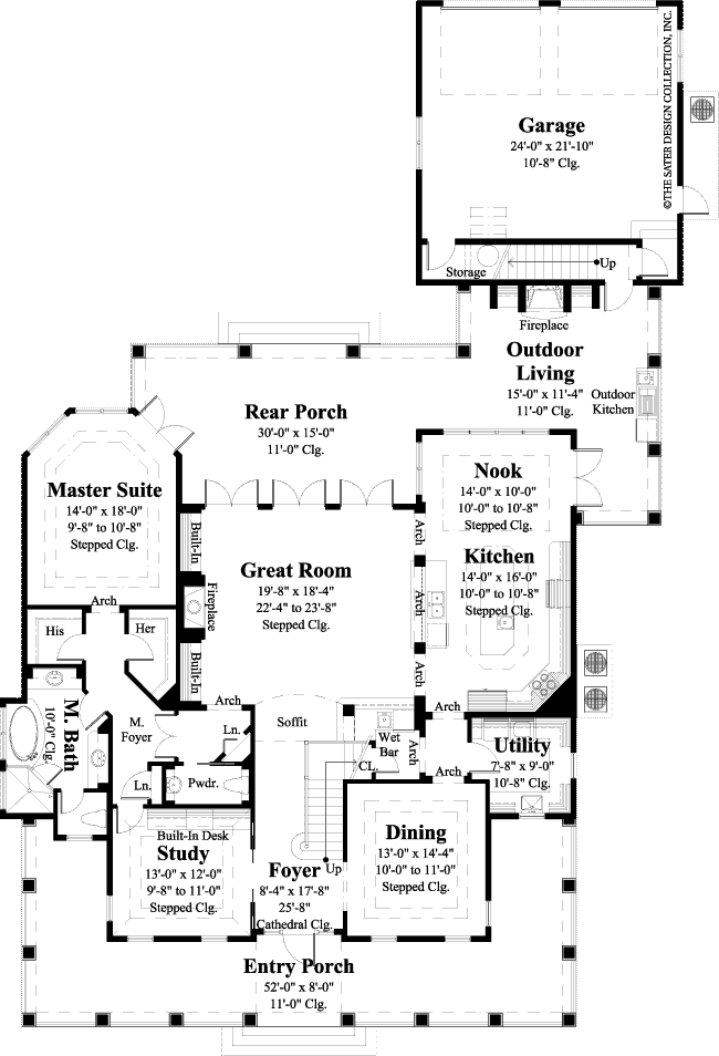 Home plan cardinal point sater design collection for Cardinal house plans