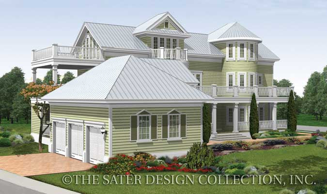 House plan seagrove lake sater design collection - Traditional neighborhood design house plans ...