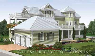 Seagrove Lake-Rear Elevation-Plan #6882