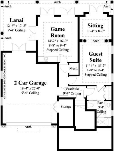 Castaway Cove-Lower Level Floor Plan #6884
