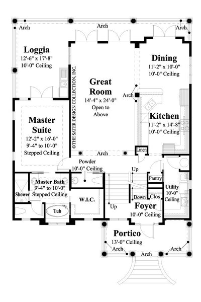 Castaway Cove- Main Level Floor Plan -#6884