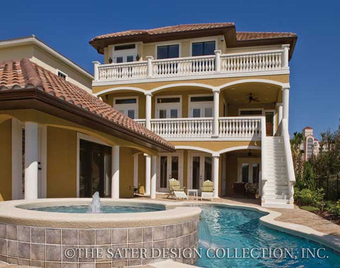 Home plan castaway cove sater design collection for Charleston house plans narrow lots