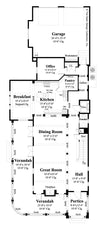 Plan #6892- Main Level Floor Plan - Carrington
