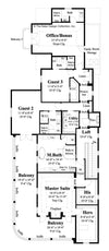Plan #6892- Second story floor Plan - Carrington