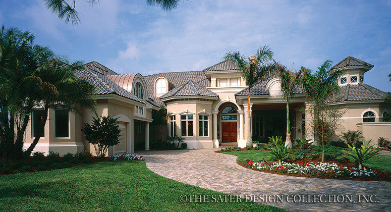 Home plan huntington lakes sater design collection for Luxury lake home plans