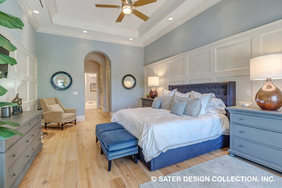 Atreyu House Plan master suite bedroom and bath