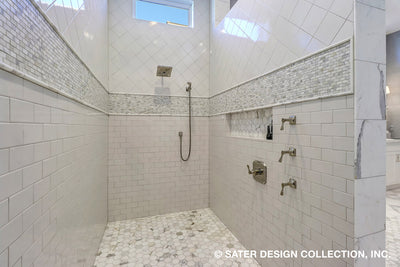 Atreyu House Plan master suite bathroom walk-in shower