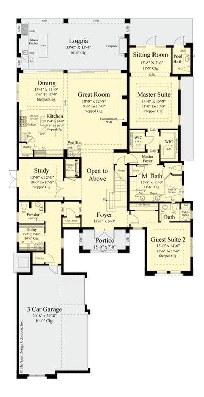 Valhalla House Plan first level floor plan