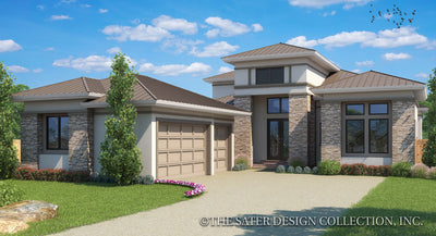 Valhalla House Plan front elevation color rendering