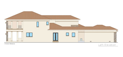 Valhalla House Plan left elevation