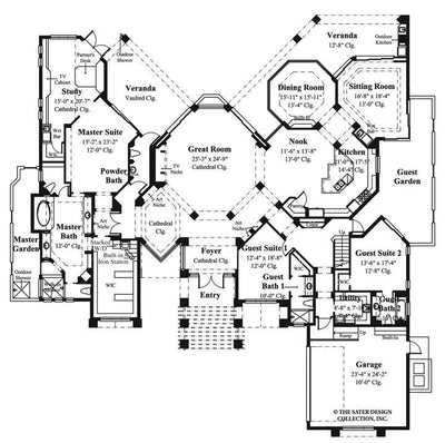 La Paloma-Main Level Floor Plan- #6915