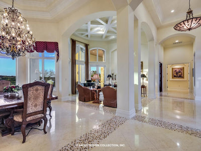 Verano House Plan foyer and dining area