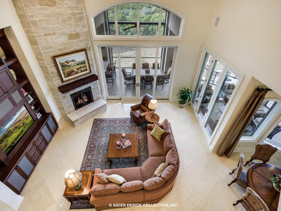 Verano House Plan Family Room view from above