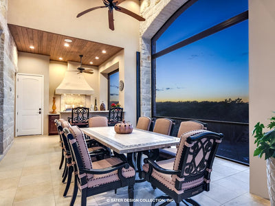Verano House Plan screened porch dining area