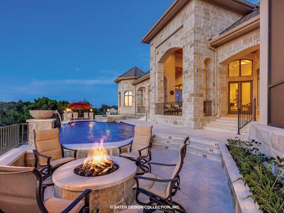 Verano House Plan Patio Fire pit