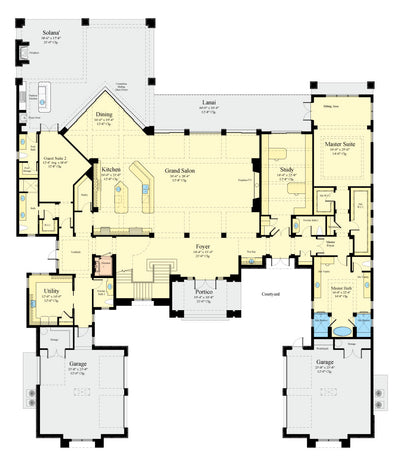 Waters Edge House Plan first floor plan
