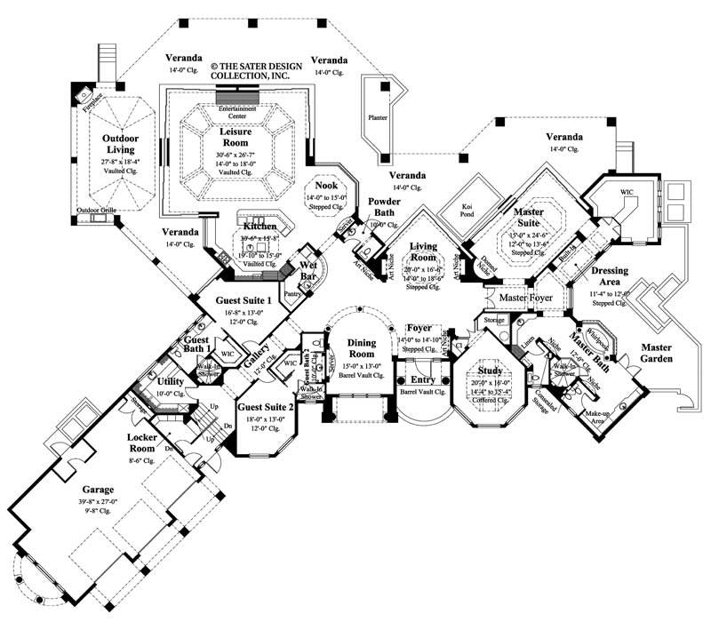 House Plan Molina Sater Design Collection