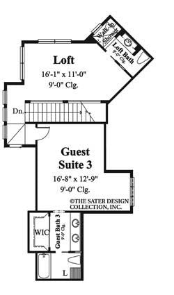 Martinique-Upper Level Floor Plan-#6932