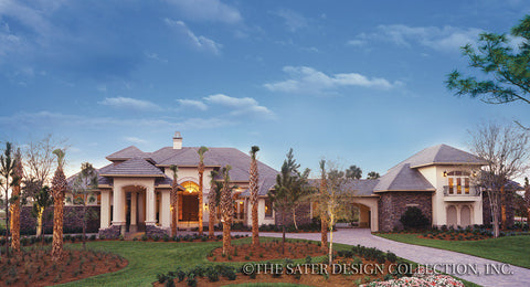 avondale house plan - French Country House Plans With Porte Cochere