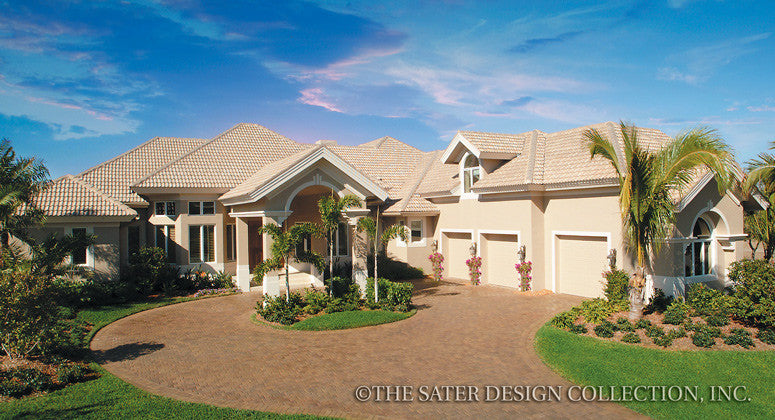 Porte Cochere Home Plans | Porte Cochere House Plans - Sater Design