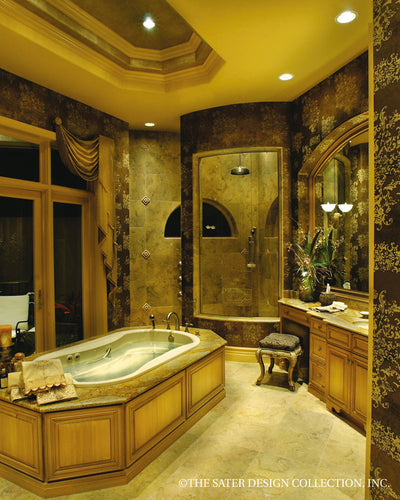 Ristano Home Plan Master Bathroom View #6939