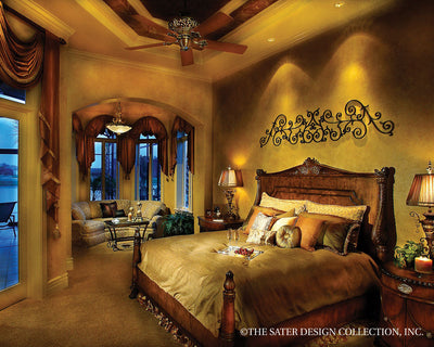 Ristano Home Plan Master Bedroom View #6939