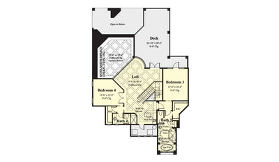 Ristano Home Plan - Upper Level Floor Plan