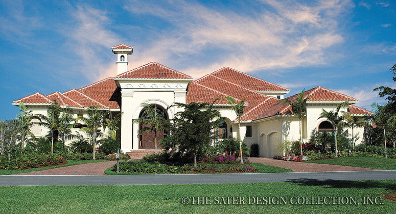 Ravello Home-Front Elevation View-Plan #6952