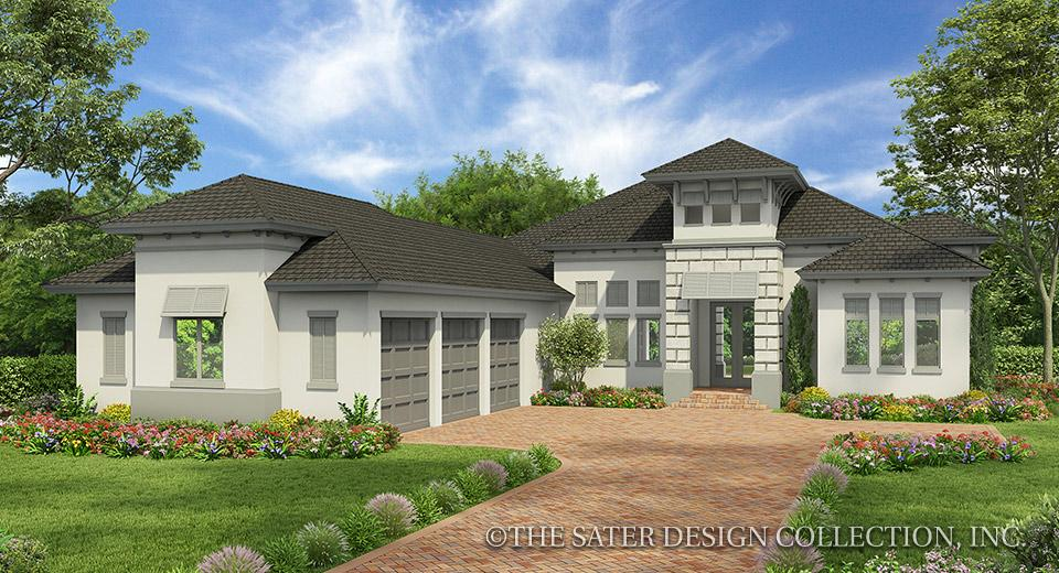 Contemporary style house plan front elevation