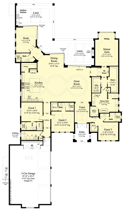 The Mansfield house plan main floor plan