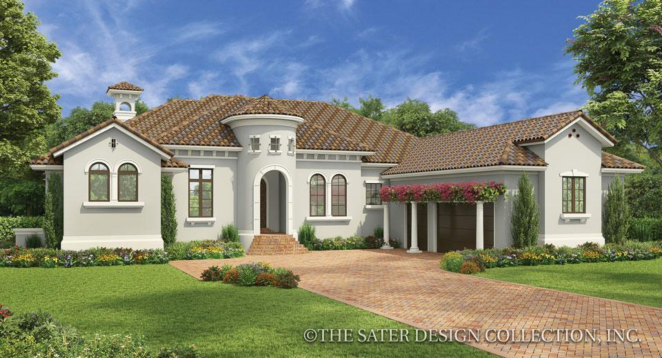 Andalusian style house plan front exterior