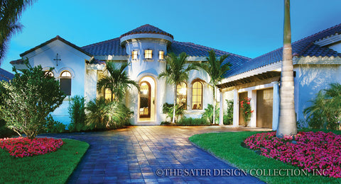 House Plan Valdivia Spanish Colonial Home Plans Sater