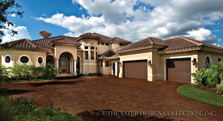 luxury mediterranean house plans home plan gabriella sater design collection 20508