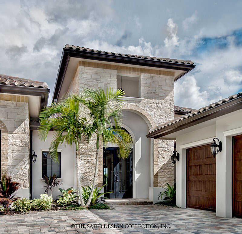 House plan monterchi sater design collection for Contemporary tuscan homes