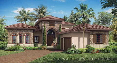 House plan monterchi sater design collection for Luxury tuscan house plans