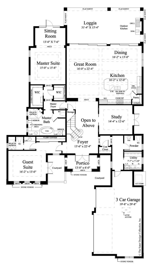 House plan monterchi sater design collection for Sater com
