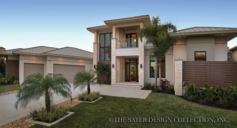 Modern house plans modern home plans sater design collection - Brick houses three beautiful economical projects ...