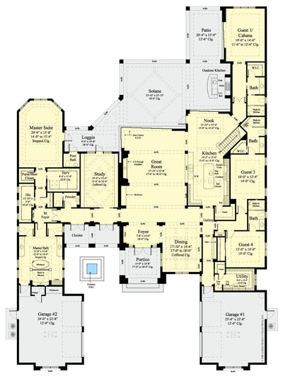 Stillwater-Lower Level Floor Plan-Plan #6970