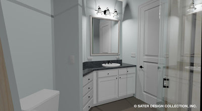 Emery House Plan guest bathroom